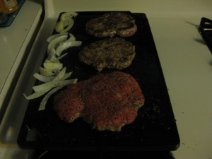 Burgers on Cast Iron Griddle