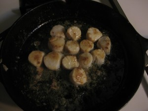 Scallops in Cast Iron Pan