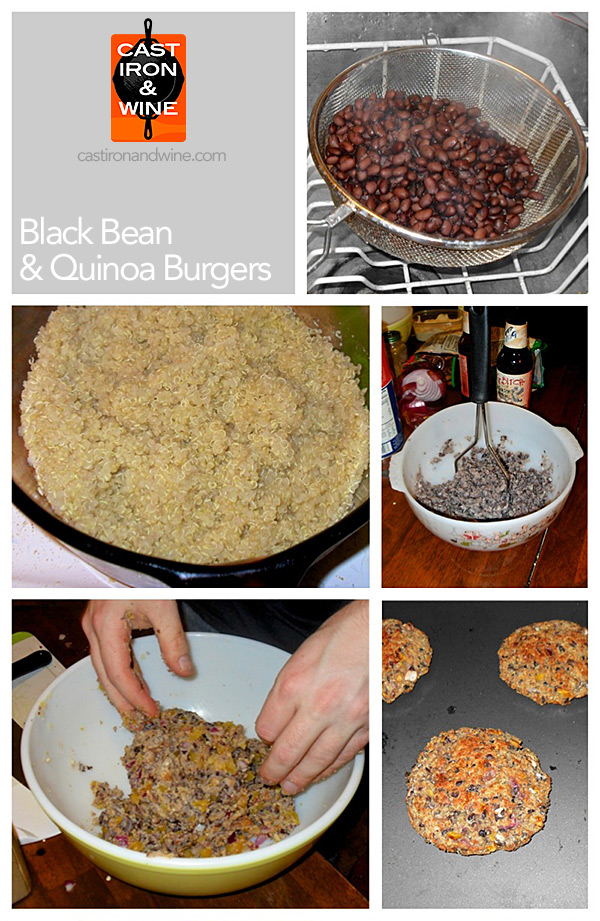 bean-quinoa-burger-collage