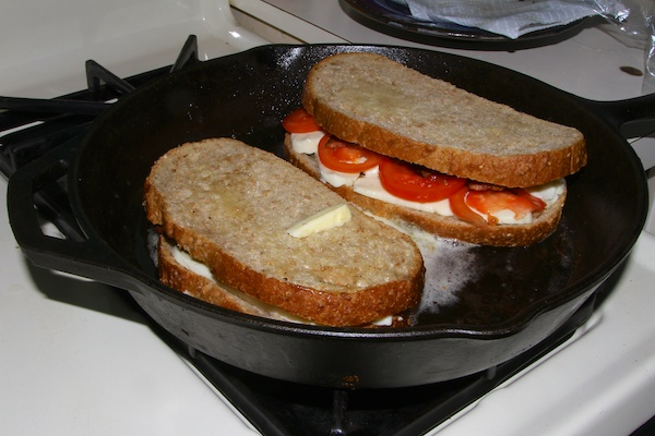 Homemade Mozzarella Grilled Cheese Sandwich