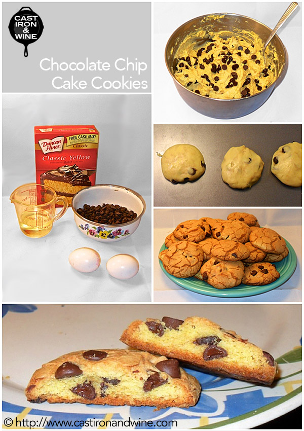 Chocolate Chip Cake Cookies