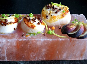 Scallops on Salt Block