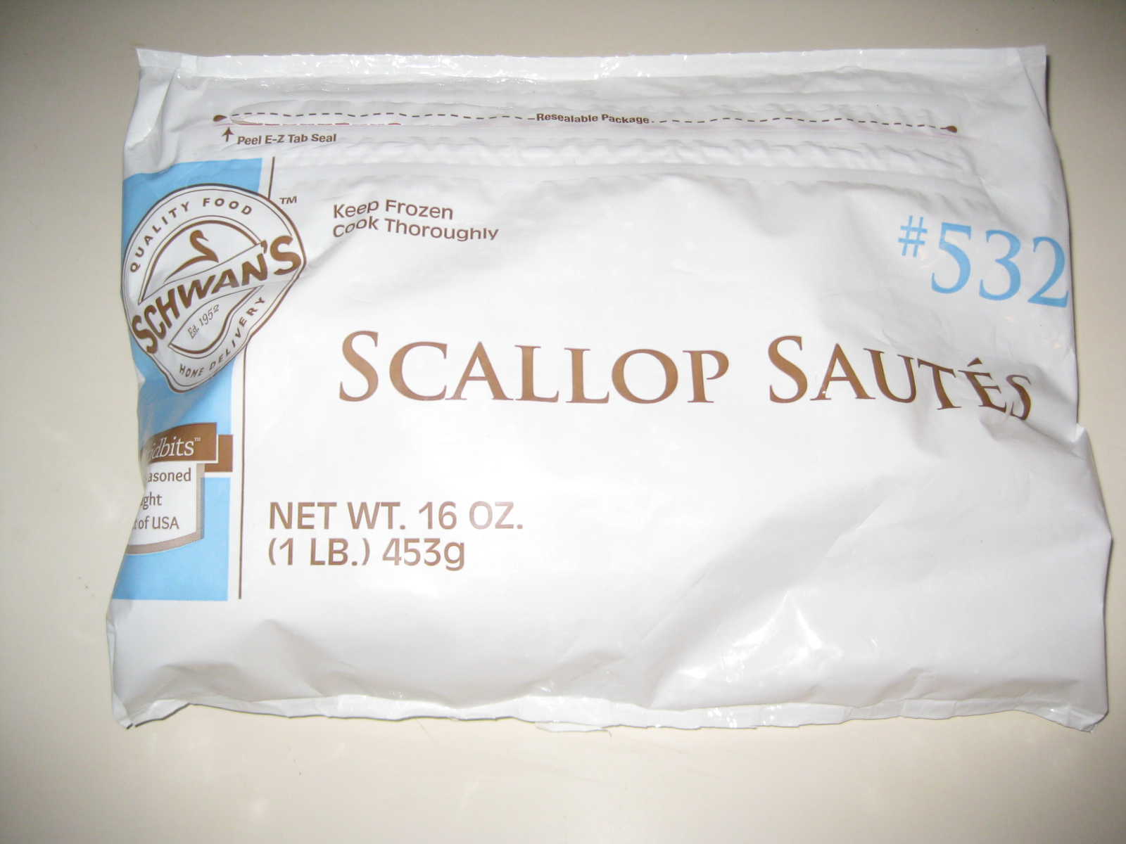 Schwan's Scallop  Saute 1 Lb. Bag