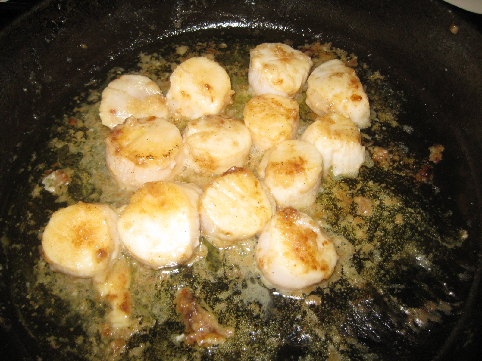 Scallop Saute in Cast Iron Skillet